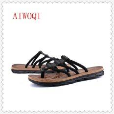 Mens Slippers Male Sandals Beach Sandals Breathable Nest Men Shoes Hole Mesh Sandals Home Slipper Sandalsaiwoqi Intl By Youngsun.
