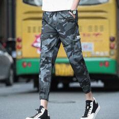 5f4e17c501 Mens Jogger Autumn Pencil Harem Pants Men Camouflage Military Pants Loose  Comfortable Cargo Trousers Camo Joggers Grey