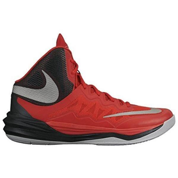 Pria Nike PRIME HYPE DF II Sepatu Basket Merah/Hitam/Abu-abu/Mencerminkan Silver M US-Intl