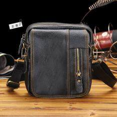 Mens Pu Leather Leisure Bags Business Small Shoulder Bag By Teamtop.