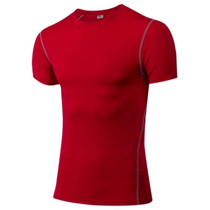 Harga preferensial Pria Olahraga Sepak Bola Basket Kaus Lari Kebugaran  Pakaian Olahraga Cepat Kering T-shirt (Merah)-Intl beli sekarang - Hanya  Rp180.445 f495ff6d38
