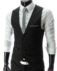 Men's suit vest Korean-style Slim fit suit vest Spring and Autumn thin  section autumn