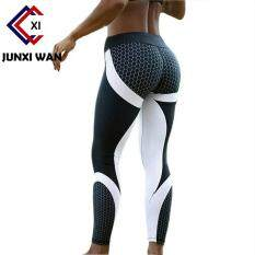0eaf56fe3fc Mesh Pattern Fitness Leggings Women Sporting Printed Workout Legging For  Women Elastic Trousers Slim Black White