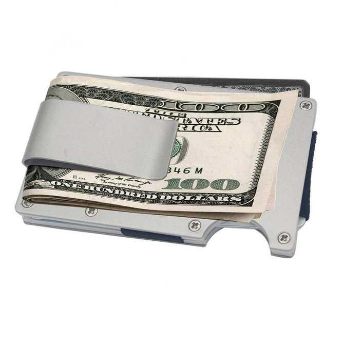 Metal wallet credit card holder and aluminum money clip with rfid metal wallet credit card holder and aluminum money clip with rfid blocker slim size colourmoves