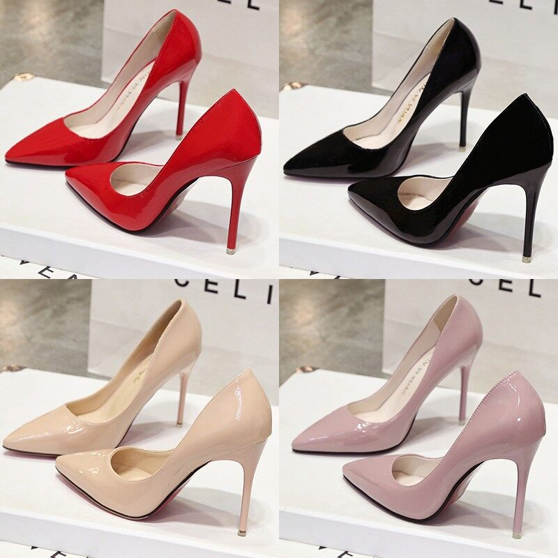 58c33efcc6de Micchow Europe and The United States Star Spring and Autumn Models Super  Heels with Beige Women s