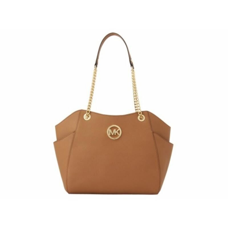680363ced3c3 Michael Kors Jet Set Travel Long Chain Shoulder Tote In Acorn (Brown)