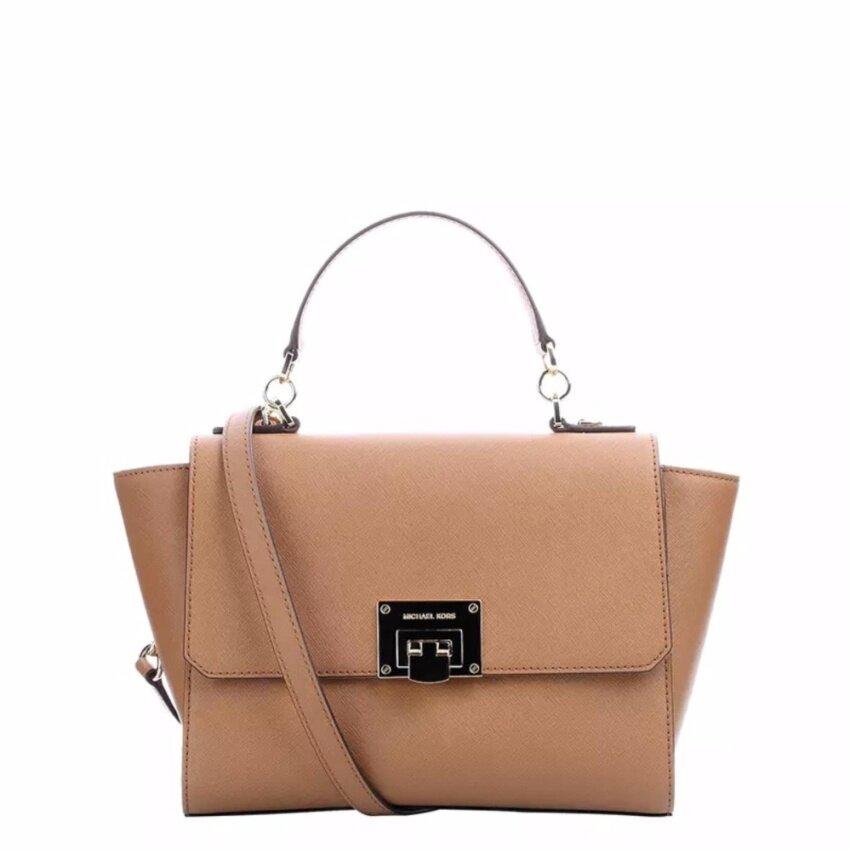 211e8c4226ac Segera Beli MICHAEL KORS Tina Medium Top Handle Satchel Bag in Acorn ...