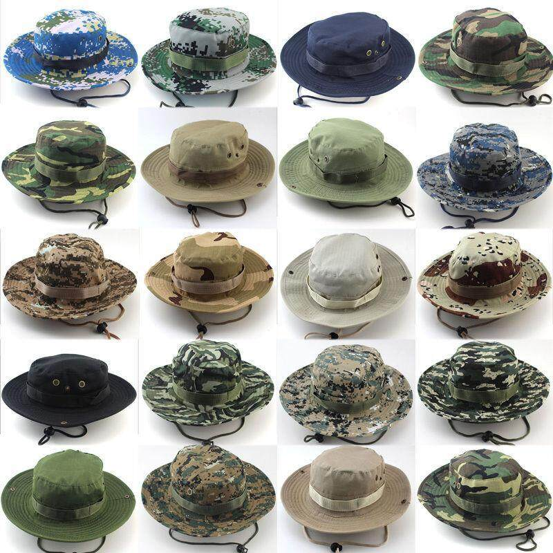 c3503cfcb0a Military Camouflage Bucket Hats Camo Fishing Hunting Mountain Cap Outdoor  Men Sun Protection Hat Color