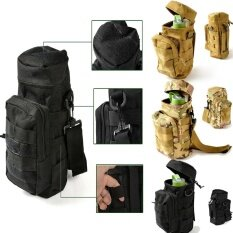 Lb Military Tactical Water Bottle Pouch Kettle Carry Bag With Zipper Closure For Hiking Camping Outdoor Activities Specification:army Green By Live Birds.