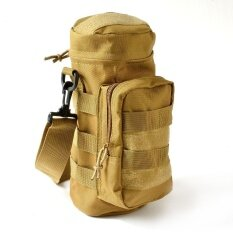 Os Military Tactical Water Bottle Pouch Kettle Carry Bag With Zipper Closure For Hiking Camping Outdoor Activities Specification:khaki By Outop Store.