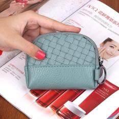 Mini Nol Dompet Wanita Kunci Tas Murni Tenunan Tangan Kecil Tas Korea Tas Koin Tangan Dompet