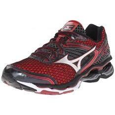 Mizuno Mens Wave Creation 17 Running Shoe, Chinese Red/Black/Red Dahlia,