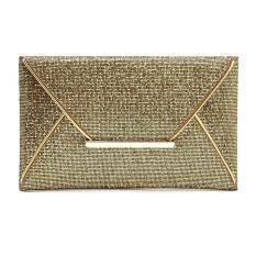 Moonar Women Glitter Sequin Evening Party Hand Bag Pouch Envelope Handbag Clutch (Gold)