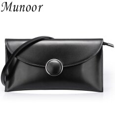 Munoor 100% Genuine Cow Leather Shoulder Bag Women Clutch Bags kulit tulen  Kulit Asli Da 54c512212174b