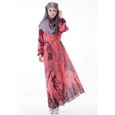 Muslimah Melon Batik Jubah Dress MW6011-MEL