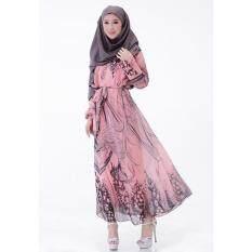 Muslimah Pink Batik Jubah Dress MW6011-PI