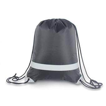 Diskaun NAVO Drawstring Bag for Gym, Cinch Backpack with Reflective Safety Strap on Front, String Backpack ❤(Black) promosi - Hanya RM113.47
