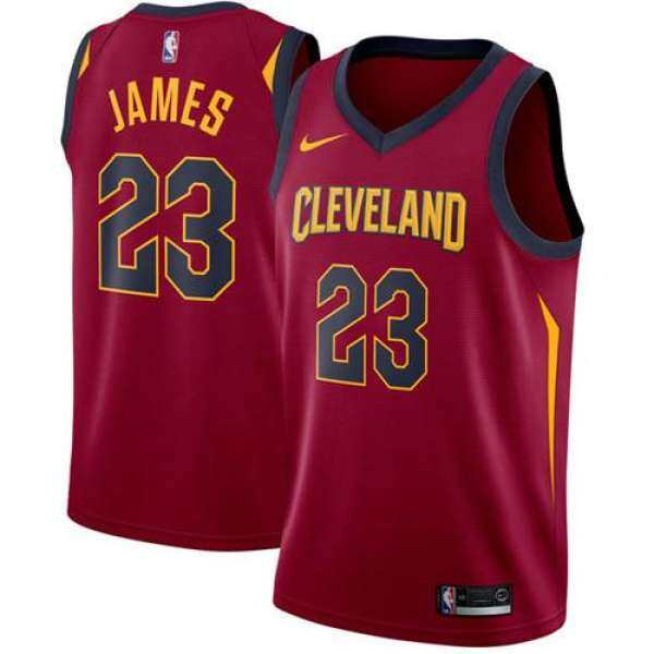 54524e4bf0a DUK NBA Men's Cleveland Cavaliers LeBron James #23 Maroon Swingman  Basketball Jersey - Icon Edition