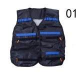 Nerf Tactical Vest Jacket Waistcoat Magazine Ammo Holder For N-Strike Elite Pistol Bullets Toy Guns Clip Darts Black
