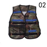 Nerf Tactical Vest Jacket Waistcoat Magazine Ammo Holder For N-Strike Elite Pistol Bullets Toy Guns Clip Darts Green