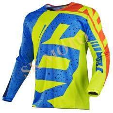 Produk Baru HC Motocross Jersey Sepeda Motor Lengan Panjang T-shirt Balap Sepeda Motor Trail Bersepeda DH MX ATV Kaus S-XXL (Kuning)