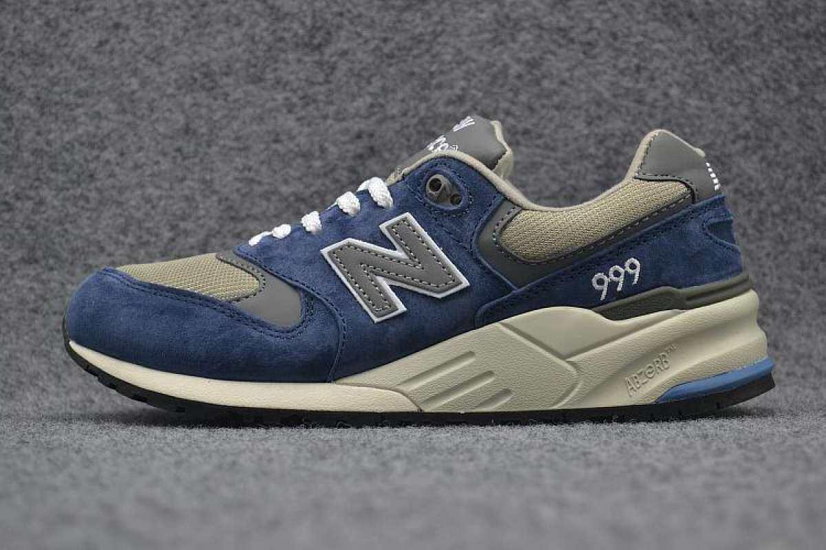 การใช้งาน  สกลนคร Fashion of New Balanc Men and Women ML999NVD Casual Sneaker NB 999 Unisex Running shoes Navy Grey (EU 36-44)