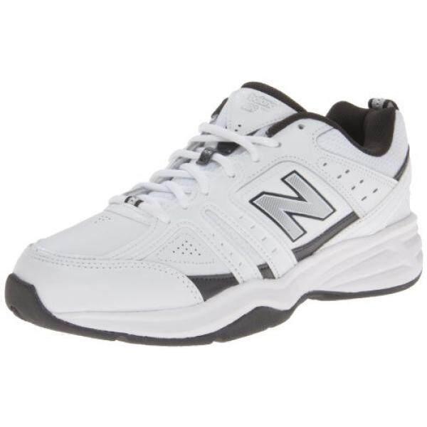 New Balance Mens MX409 Cross-Training Shoe,White/Grey,8 4E US - intl