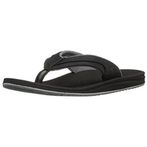 Baru Balance Keseimbangan Baru Pria Mengisi Ulang Thong Sandal, Hitam/Grey, 15 D AS-Internasional