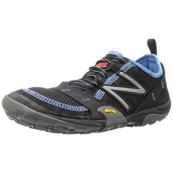New Balance Wanita WT10v1 Minimus Jejak Lari Shoe, Hitam/Biru, 7 D AS-Internasional