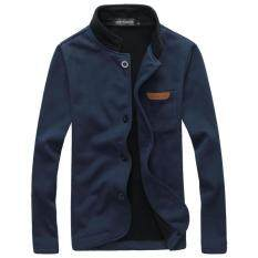 British Style Men S Fashion Cardigan Coat(navy Bule) By Wenzhou Tall Luggage Manufacturing Co Ltd.