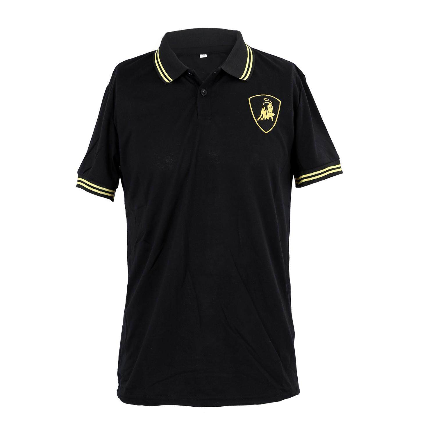NEW BULL POLO Shirt Short Sleeve Mens Slim Fit T-Shirts Top Tee-black - intl