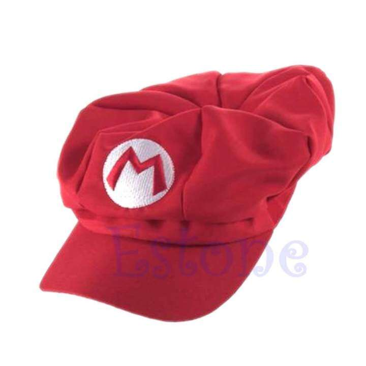 New Fashion Luigi Super Mario Bros Cosplay Adult Size Hat Cap Baseball Costume