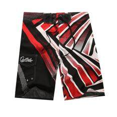 New Fashion Mens Board Shorts Beach Wear Surf Surfing Swim Wear Swimming Short Pants Lace-Up Trunk (red,size:s,m,l,xl,xxl) By Mh Mall.