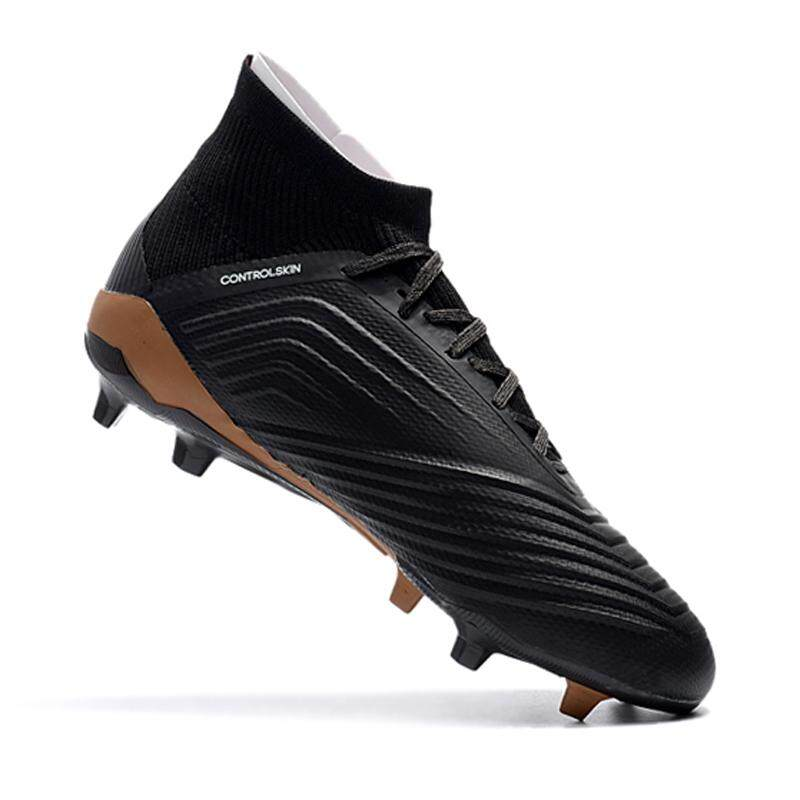 Review New Football Boots Soccer Cleats Shoes Training Sports Sneakers Skywalks Predator 18 Fg Knitting Football Shoes Intl Oem