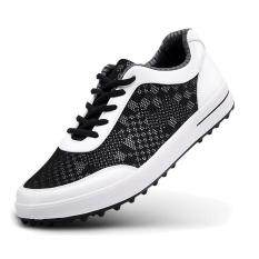 best service 49608 d2e66 New Golf Shoes Men s Shoe Sports Casual Shoes Sneakers Mesh Fabric  Breathable Plus Size (Black