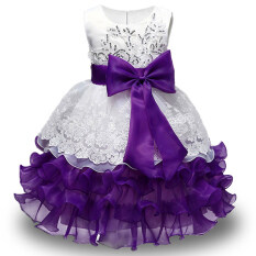 c57d58449cf9 New High Quality Baby Lace Princess Dress for Girl Elegant Birthday Party  Dress Girl Dress Baby
