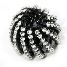 New Korean Style Diamond Nest Nest Horse Tail Buckle Diamond Drill Head Clip Folder Hairpin Clip Sweet Girl Ball Head Buds Head Hair Clip - 03