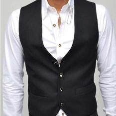 New Korean Version of Pure Color V Collar Slim Men's Vest