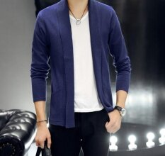 New Mens Self-Cultivation Cardigan Sweater ( Blue) By Top Store.