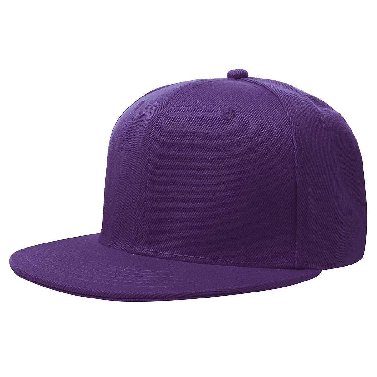 a9d450a1f NEW RETRO Plain Fitted Cap New Baseball Hat Solid Flat Bill Visor Blank  Color Purple -