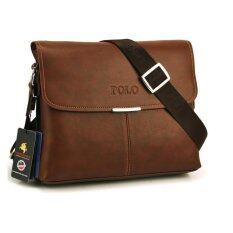 fe30c0bc749a New Videng Polo Bag Horizontal Big Size Men Brown Shoulder Bag Handbag  Composite Leather Casual Bag