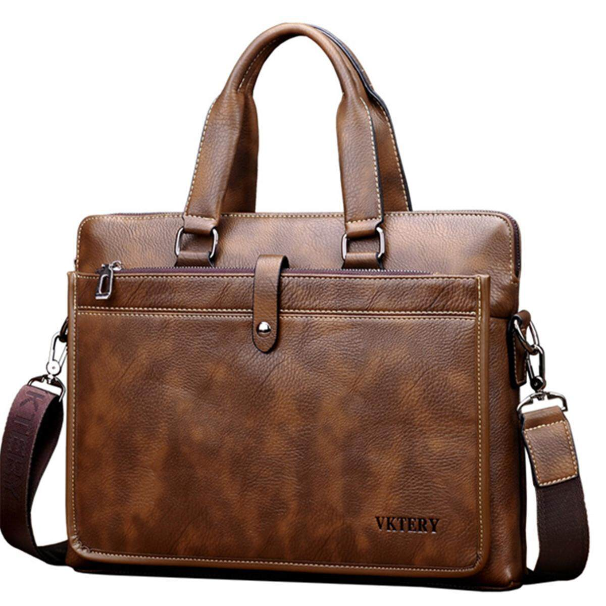 New Vintage Leather Business Laptop Bag Handbag Corssbody Bag For Men Male - intl Philippines