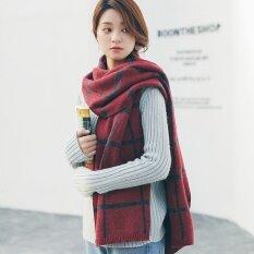 4140076e3 New Women Fashion Pattern Scarf Girl Plaid Shawls Thick Winter Warm Fashion  Korean Style Women Scarf