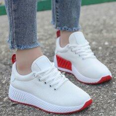 New Women South Korean Style Fashion Trends Fly Weave Comfortable Sports Shoes Ladies Lace Up Sneaker
