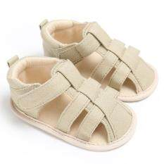 Newborn-18 Months Summer Baby Girls Boys Slip-On Soft Sole Shoes Cute Casual Sandals S1964 Color Khaki By Crazy Store.