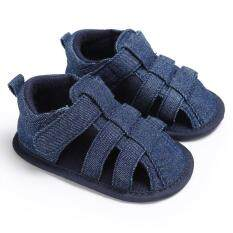 Newborn-18 Months Summer Baby Girls Boys Slip-On Soft Sole Shoes Cute Casual Sandals S1966 Color Dark Blue By Crazy Store.