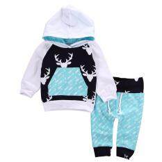 Newborn Kids Infant Baby Boys Hooded Tops Pants 2pcs Outfits Set Clothes By Gl1297 Store.
