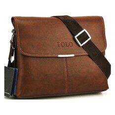 NiceCare  Premium Polo 3001-3 Horizontal Leather Shoulder Bag (Brown)