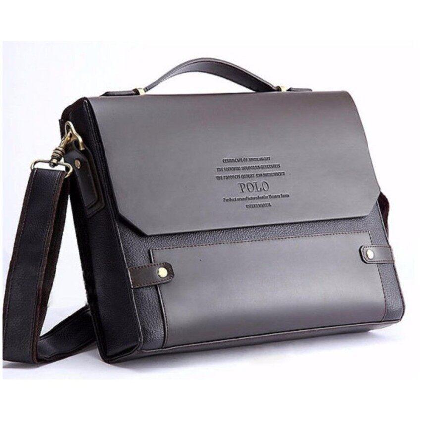 NiceTrade Videng POLO Newest Men Genuine Leather Blocking Secure Briefcase Shoulder Business Bag Messenger Bags Working Bag - intl