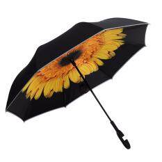 Night Protection Upside Down Reverse Inverted Umbrella C-Handle Double Layer Hot By Audew.